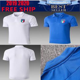 El shaarawy trikot online-Italienische Fußballschuhe 2019 Kits + Socken Trikot CANDREVA CHIELLINI EL SHAARAWY BONUCCI INSIGNE chandal 2019 Fußball-Polo-Shirt