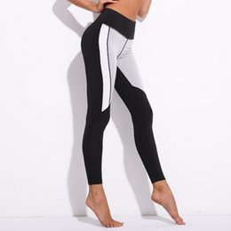 Pantaloni yoga bianchi caldi online-Moda donna Hot-selling Hot-selling nuovo nero-bianco-grigio cuciture intimo sportivo Yoga pantaloni Fitness Yoga tempo libero