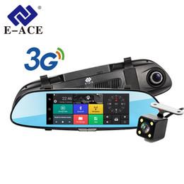 """alarme bmw Desconto E-ACE D01 Navegação GPS Car Tracker Dvr 3G Wifi Camera 7 """"tela de toque Android Navigators 1080P Video Recorder Espelho Retrovisor"""