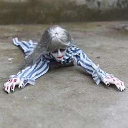 2019 gummi witze Halloween Voice Control Creep weiblichen Geist Props 3 Designs Horror Spielzeug Bar Ghost House Ornaments Party Supplies 08