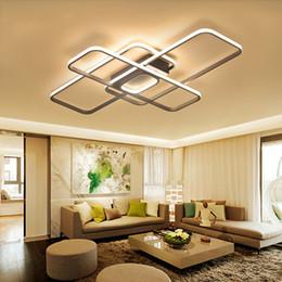 Lampade da soffitto minimalista online-Plafoniere moderne minimaliste quadrate principali per la camera da letto del soggiorno Plafoniere principali domestiche della lampada di soffitto di colore bianco CA 110V-AC260V
