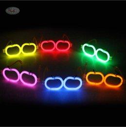 2019 giocattoli all'ingrosso del harry potter Kids LED Straw Florescent Glasses Fashion Party Novità Occhiali luminosi Natale Halloween Giocattoli per bambini Regalo caldo per feste TL404 all'ingrosso