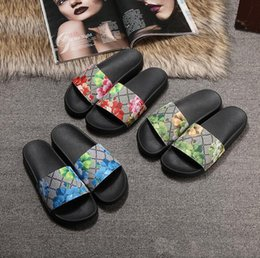 GG Luxury Designer Shoes Slides Summer Beach Indoor Flat G Sandals Slippers House Flip Flops With Spike sandal size35-45 with Box Q6 desde fabricantes