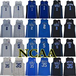 2018 2019 Duke Blue Devils NCAA College Джерси 1 Williamson 2 красноватый 5 Barrett 35 Bagley III 34 Carter сшитый от Поставщики оптовые спортивные куртки
