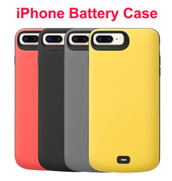 iphone batterie schutzhülle Rabatt Batteriefach wiederaufladbare externe Batterie Tragbares Ladegerät Schutzhülle Ladebuch Power Bank Audio für iPhone 8/7 / 6s plus 8000mA
