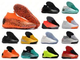Football cr7 en Ligne-2019 Chaussures de soccer pour hommes SuperflyX 6 Elite CR7 IC TF chaussures de soccer intérieur à crampons Mercurial Superfly VI 360 chaussures de football scarpe da calcio 39-45