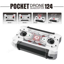 quadcopters rc Desconto Barato FQ777-124 Pocket Drone 4CH 6 Eixos Quadcopter Gyro Drones Com Controlável Comutável Uma Chave Para Retornar RTF UAV RC Helicóptero Mini Drones