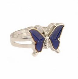 Сердце настроение кольцо онлайн-Красота Бабочка Цвет Изменение Настроения Кольцо Сердце Очарование Эмоции Чувство Переменчивый Кольцо Контроль Температуры Цвет Кольца