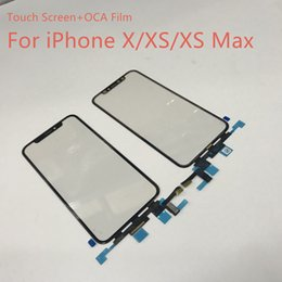 touchscreen-ersatz Rabatt Original Test Front Touchscreen Digitizer + OCA Tape Film Ersatz für iPhone X / XS / XS max