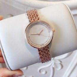 d74ba52f220 A pcs lot 2019 New Fashion Women Watch Shell Dial Rose gold Top Brand  stainless Steel Luxury Lady Wristwatch Classic Quartz Jewelry buckle top  luxury ...