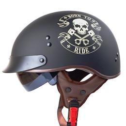 2019 capacete de motocicleta de face aberta xxl TORC T55 aberto face harley capacetes da motocicleta com interior ensolarado lente genuína almofada de couro meia face retro scooter do vintage capacetes capacete de motocicleta de face aberta xxl barato