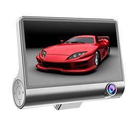 "Автомобильная камера fhd онлайн-LOONFUNG LF179 Три объектива автомобиля DVR Даш камеры 4"" IPS экран 1080P FHD автомобиля внутри и снаружи камеры"