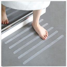 Ruban de sécurité en Ligne-12pcs antidérapant tapis de bain 20x2cm grip autocollants non glisse bandes de douche revêtement de sol tapis de protection tapis de protection anti salle de bains