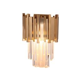 Canada Salon chambre mur lumière luxe cristal lampe murale post moderne minimaliste hôtel ingénierie couloir lampe de mur en métal Offre