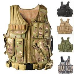 2019 coldres de arma preta Colete Tático com coldre de arma MOLLE Combate Tactical Vest Black tan verde multicam desconto coldres de arma preta