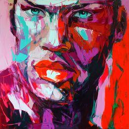 2019 paleta de paleta figuras de pintura abstrata Pintados à mão faca de paleta retrato da pintura Faca de paleta Françoise Nielly Rosto Abstrata pintura a óleo Impasto figura na lona Decoração FN35 desconto paleta de paleta figuras de pintura abstrata