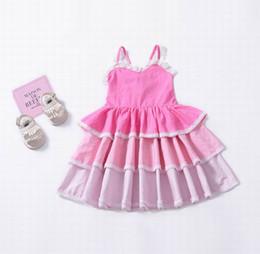 Vestido de princesa para niña sin mangas de encaje de verano vestido de la  torta niños ropa rosa púrpura 1-5T H986 rebajas pasteles de ropa c7f177275c8