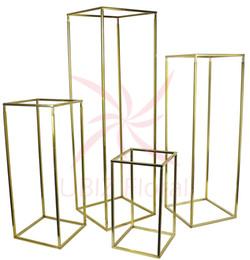 4 pcs Un ensemble de support de colonne de fleur avec une plaque acrylique transparente ? partir de fabricateur