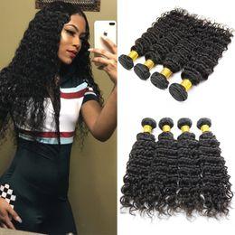 Bestellen haare weben online-Brasilianisches reines Haar, das tiefe Welle 5 Bündel 100% unverarbeiteter peruanischer malaysischer kambodschanischer Haar-Erweiterungs-Massenauftrag spinnt, kann besonders angefertigt werden