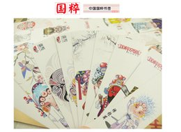 Canada 30PCS / lot livre de cadeau de culture traditionnelle chinoise Mark opéra de Pékin maquillage papier signet étude fournitures Offre