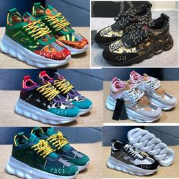 5dcf9072556a6d Classic Luxury Chain Reaction Brand per gli uomini Designer Sneakers di  lusso Scarpe sneakers in gomma leggera taglia 36-45 scarpe da uomo  classiche offerte