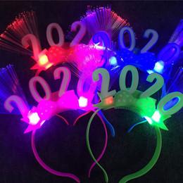 2019 светодиодный оголовье 2020 Рождество мигающий Led очки Luminous партии Декоративные Light Up Gift Светящиеся оголовье Фестиваль Свадьба Новый год скидка светодиодный оголовье