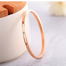 neue armbänder Rabatt Rose Gold Diamant Fleckenlose Stahl Armband Schlangenkette Charme Armband Weiblichen Persönlichkeit Schmuck GH917