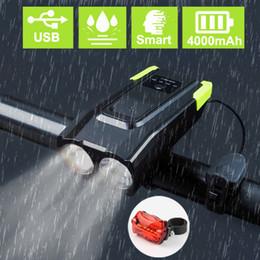 4000 mAh Indüksiyon Bisiklet Ön Işık Seti USB Boynuz Ile 800 Lümen LED Şarj Edilebilir Akıllı Far LED Bisiklet Lambası Döngüsü nereden