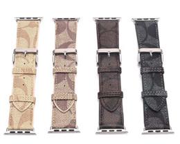 Vintage Luxury WatchBands 42MM 38MM Bandas de moda Bandas de cuero para Apple Straps 40mm 44mm iwatch 1 2 3 4 bandas Leather Bracele desde fabricantes