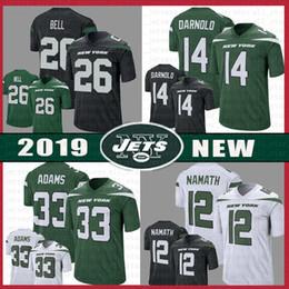 3d321af15 Jets 14 Sam Darnold 33 Jamal Adams Jersey 26 Le'Veon Bell 12 Joe Namath  Stitched 2019 New York 57 C.J. Mosley Jets Vapor Limited Black ADULT