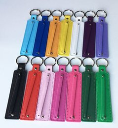 fit key ring Coupons - Free Shipping, 50PCS (8+30)Width*130mm Length PU Leather Key Rings Key Chains Fit 8mm Slide Charms, 8mm Slide Letters
