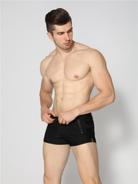 2019 bolsa de hombre bañador 2019 Hombre sexy traje de baño Trajes de baño para hombre Troncos de natación Sunga Hombres calientes Swim Briefs Shorts de playa Trajes de baño de Sunga de Mayo Gay Pouch bolsa de hombre bañador baratos