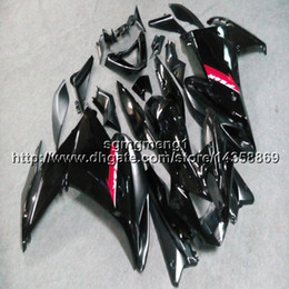 Черный обтекатель yamaha fz6r онлайн-23colors + винты черный мотоцикл статья для yamaha FZ6 09 10 FZ6R 2009 2010 ABS пластиковый обтекатель