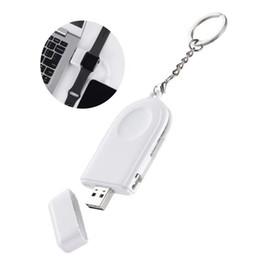 fitbit flex ladegerät Rabatt Schlüsselbund 2 in 1 kabelloses Ladegerät für Apple Watch iWatch Serie 1 2 3 4 USB-geschütztes magnetisches Ladekabel