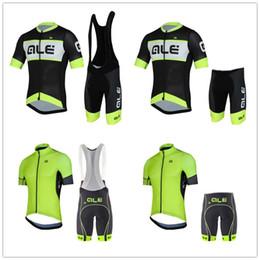 ale bike Promotion 2019 ALE été hommes jersey de vélo (bavette) short 9D pad Quick Dry ropa ciclismo vêtements de cyclisme VTT Ropa ciclismo hombre