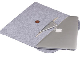 cuoio manica ipad Sconti Borsa per notebook 13.3 15.6 pollici per l'aria del macbook 13 casi Laptop Sleeve Custodia per l'aria di MacBook Pro 13 Pelle MacBook Pro