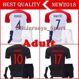 a9c35db2159 2018 Designed for home adult kit+socks Soccer Jersey MODRIC PERISIC RAKITIC  MANDZUKIC SRNA KOVACIC KALINIC Hrvatska Football Shirt discount soccer  jersey ...