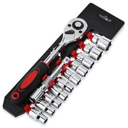Bicicletta da 12 pollici online-Set di chiavi a bussola da 1/4 di pollice da 12 pezzi Chiave a cricchetto per chiavi per strumento di riparazione auto per motociclette per biciclette