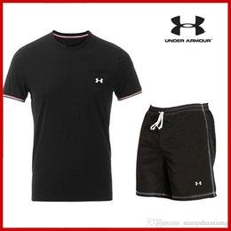 Erkekler T Shirt Pantolon Set 2 Parça erkek Spor Sıkıştırma Takım Joggers Spor Baz Katman Gömlek Tayt Rashguard giysi ücretsiz sh nereden islak görünümlü iç çamaşırı tedarikçiler