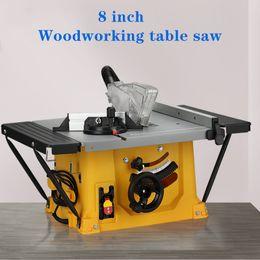 2019 jigging-maschinen 8-Zoll-Multifunktions-Holzbearbeitung Tischkreissäge Boden Sägen Elektrische Schneidemaschine Oblique Schneidebrett Flip-over