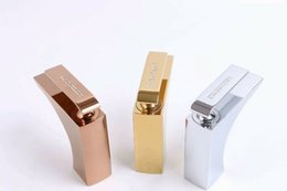 square sinks Promo Codes - Rose gold gold  Chrome solid brass Bathroom Sink square Faucet modern mixer tap deck mounted Crystal handle Luxury