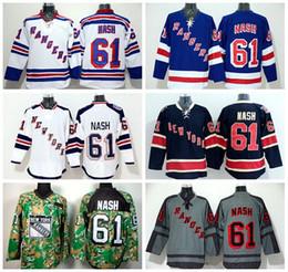 Discount york outlet - Factory Outlet, Hot #61 Rick Nash Hockey Jerseys Rangers New York Stadium Series Blue White Gray Camo Nash Rangers Jerse
