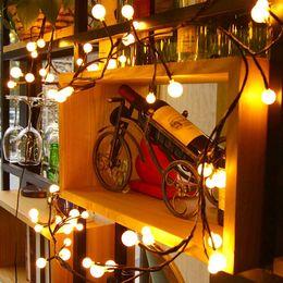 82Ft Globe String Light UL Listed 72 LED Lights Hanging Indoor Outdoor Decorative For Garden Wedding Backyard Party