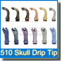 Hat Bulls Canada - 510 Drip Tip Skull, Skull with hat, Cobra, Dragen Head, Bull Drip Tips Inhaler Metal Mouth piece for VIVI Atomizer DCT