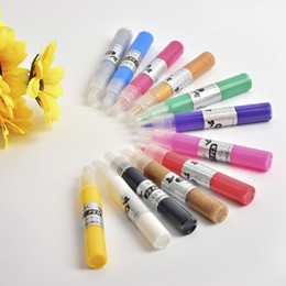 Colour gel nail art pens online colour gel nail art pens for sale 12 x 3d nail art pens fashion uv gel acrylic colour paint polish create manicure prinsesfo Gallery