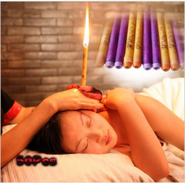 Wholesale MIX COLORS 100Pcs Indian Ear Candle Aromatherapy Therapy Medical Natural Bee wax Ear Care Natural Bee wax Ear Candles