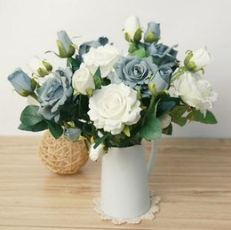 $enCountryForm.capitalKeyWord Canada - artificial flowers Flannelette ruyi rose simulation flowers wedding leave home decoration silk flowers free shipping SF0206