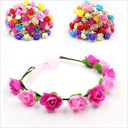 Hair Assorted Colors Canada - Wholesale artificial flowers Braided Leather Elastic Headwrap for Ladies hair band Assorted Colors Hair Ornaments hairband BT020