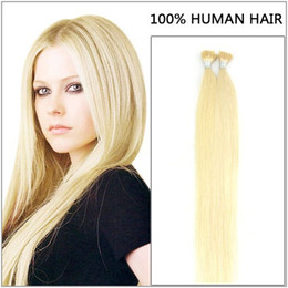 "i tip blonde human hair Canada - ELIBESS 16""-24"" #60 I tip Hair Extensions 1g s 100s pack Human platinum blonde tangle-free Pre bonded Keratin Hair"