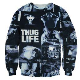 cdba7ad8e45ee w1208 Alisister ROCK hoodie THUG LIFE clothing print Women Men Tupac 2PAC  sweatshirt crewneck 3d graphic harajuku moleton feminino top